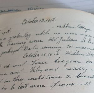 Page from Uncle's diary 1918